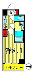 JR総武線 錦糸町駅 徒歩12分の賃貸マンション 6階1Kの間取り