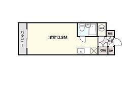本町通桜苑ビル 5階ワンルームの間取り