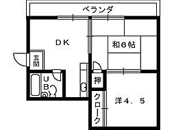 ルネ岩崎[3階]の間取り