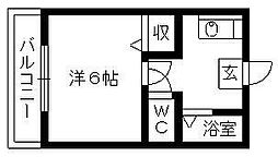コーポSUGIYAMA[201号室]の間取り