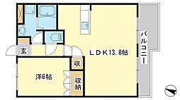 兵庫県姫路市東延末の賃貸アパートの間取り