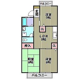 グランディール藤沢台[1階]の間取り