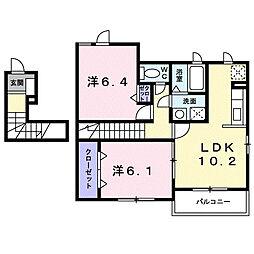 さくらヒルズ霞台 弐番館[2階]の間取り