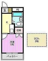 レオパレス21寝屋川第3[2階]の間取り