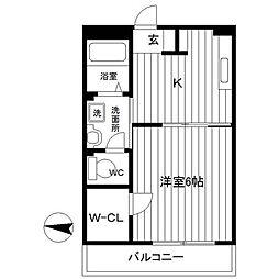 リビィエールTAMA[1階]の間取り