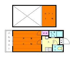 綾の家[2階]の間取り