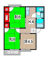 埼玉県さいたま市南区太田窪4丁目の賃貸アパートの間取り