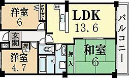 ディックベル[1階]の間取り
