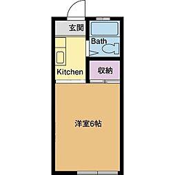 パナハイツイサム[2階]の間取り