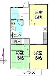 アトムハウス[103号室]の間取り