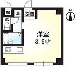 神奈川県横浜市青葉区新石川2丁目の賃貸マンションの間取り