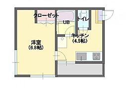 カーサキムラ2[201号室]の間取り