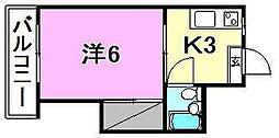 第2井上ハイツ[207 号室号室]の間取り