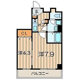 La Bella Vita 横浜大通り公園[3階]の間取り