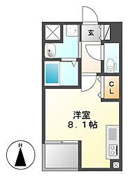 レーベスト松原[11階]の間取り