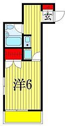 金子ハイツ[2階]の間取り