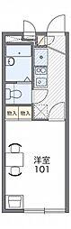 レオパレスグランドゥール[2階]の間取り