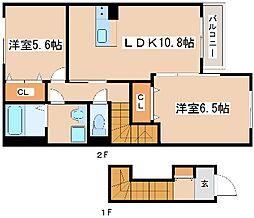 兵庫県明石市藤江の賃貸アパートの間取り