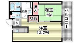 HAT神戸・灘の浜11号棟[505号室]の間取り