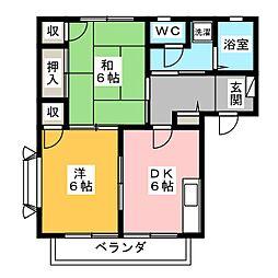 サンピュアみずほA・B[2階]の間取り