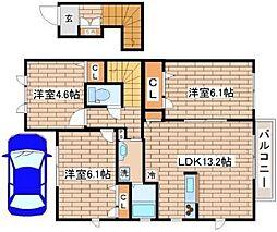 兵庫県神戸市須磨区若草町3丁目の賃貸アパートの間取り