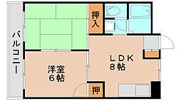 メモリープラザ吉塚[7階]の間取り