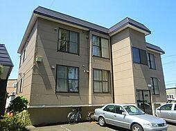 北海道札幌市清田区美しが丘二条8丁目の賃貸アパートの外観