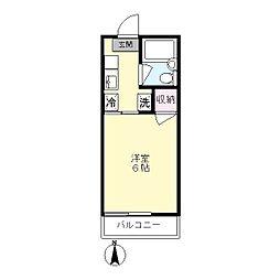 ベルゾーネ百合ヶ丘[2階]の間取り