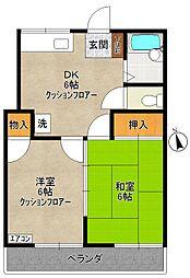 多摩プラサーダ[2階]の間取り