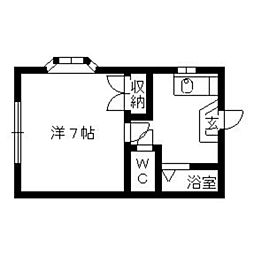 コーポ千寿[1階]の間取り