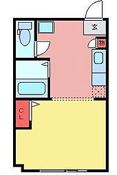 育宝毛呂山ビル[3階]の間取り