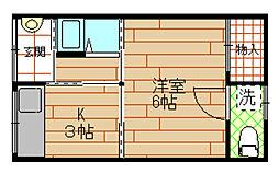 [一戸建] 大阪府大阪市此花区伝法5丁目 の賃貸【/】の間取り