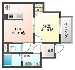 KAP六本松[1階]の間取り