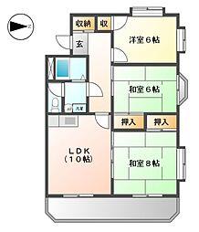 エクセルヤマヒロ[4階]の間取り