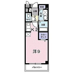 K-9 ほうその[2階]の間取り