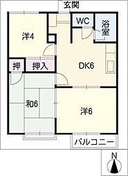 ワキタハイツA棟[2階]の間取り