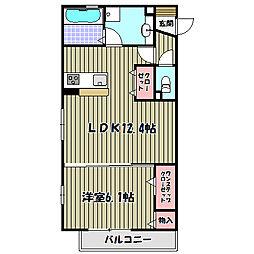 ロイヤルガーデン三国ヶ丘 弐番館[1階]の間取り