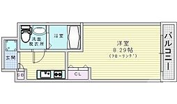 Osaka Metro谷町線 都島駅 徒歩6分の賃貸マンション 7階1Kの間取り