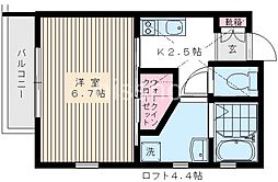 7599−トワ・ヴェール[201号室]の間取り