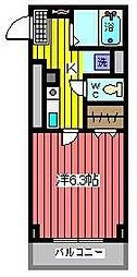 川口プラザE[4階]の間取り