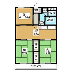 メゾンドール的場[3階]の間取り