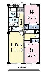 キャッスルタルイ壱番館A[3階]の間取り