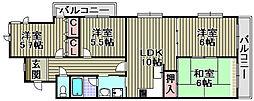 フローラハイツ泉佐野弐番館[405号室]の間取り