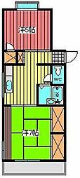コーポ青樹[1階]の間取り