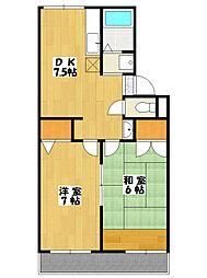 サンフェア南八幡[2階]の間取り