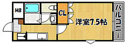 JR山陽本線 西明石駅 徒歩20分の賃貸マンション 1階1Kの間取り