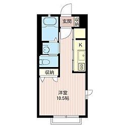 palette B[2階]の間取り