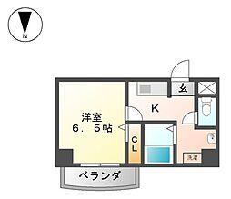 万宝マンション[4階]の間取り