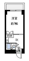 シャトレー伊勢佐木[5階]の間取り