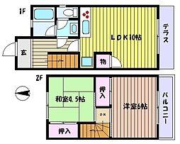 [テラスハウス] 兵庫県神戸市東灘区住吉宮町6丁目 の賃貸【/】の間取り